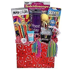Beyond Bookmarks Girl Stuff - Valentine Gift Basket for Girls and Tweens!