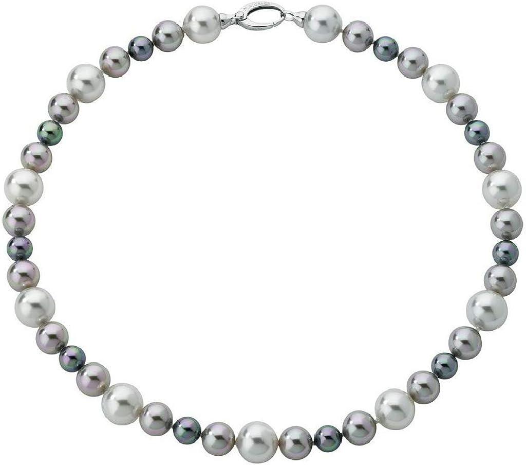 Majorica - Collar corto con perlas blanco, gris  y nuage, 48 cm