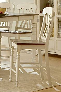 Ohana Counter Height Chair Set of 2 Finish Antique White