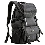 Evecase DSLR/SLR Digital Camera Travel Rugged Backpack-Black for Canon EOS 80D, 70D, 60D, 7D, 6D, T6s, T6i, T6, T5i, T5, T4i, T3, T3i and more