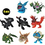 Full Set 8 Pcs Juguetes How To Train Your Dragon 2 Action Figures Night Fury Toothless