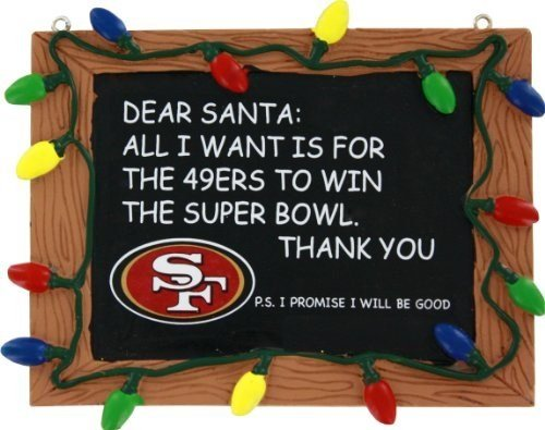 Nfl Football Chalkboard Holiday Christmas Ornament Pick Team San Francisco 49ers