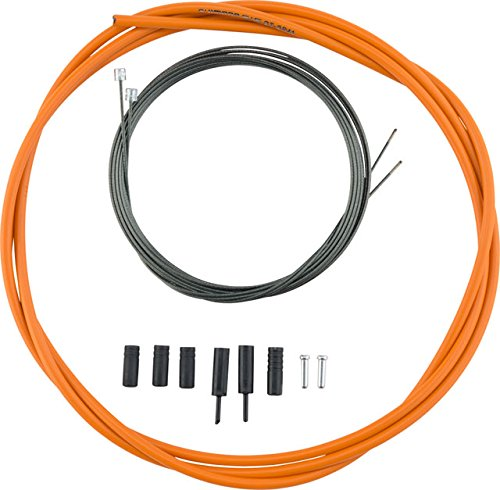 Shimano Optislick Derailleur Cable and Housing Set Orange, One Size - Orange Housing