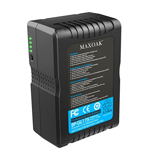 MAXOAK 177 (12000mAh/14.8V) V Mount Battery for Video Camera Camcorder (not for RED series) by MAXOAK