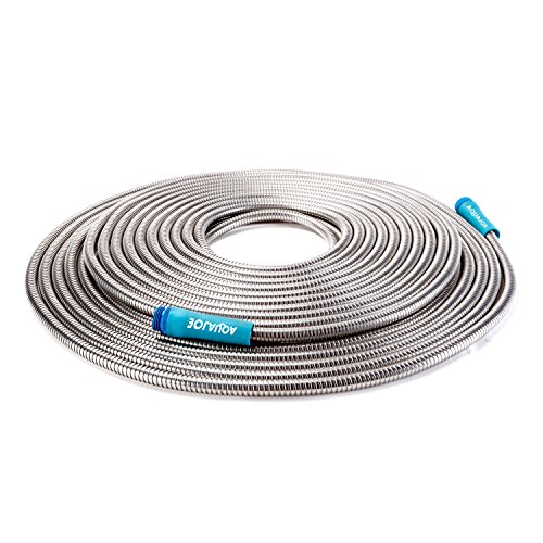 Sun Joe AJSGH100 1/2″ Heavy-Duty Spiral Constructed Stainless Steel Garden Hose, 100 Foot
