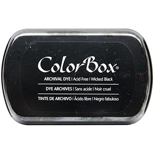 (ColorBox Archival Dye Ink Full Size Inkpad, Wicked Black)