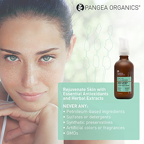 Pangea Organics Facial Cleanser | Australian Wild Plum & Willow | Best Face Wash for Combination to Oily Skin | 4 oz. Natural, Anti-Aging Face Wash | Organic, Gluten-Free Facial Cleanser