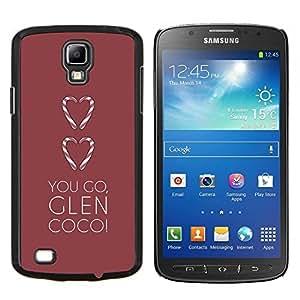 LECELL--Funda protectora / Cubierta / Piel For Samsung Galaxy S4 Active i9295 -- amas de ir cañada corazón minimalista marrón --