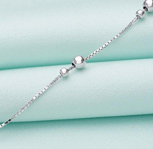 DUlijun S925 sterling silver bracelets de cheville dames simples frais transit Pearl Bijoux de pied