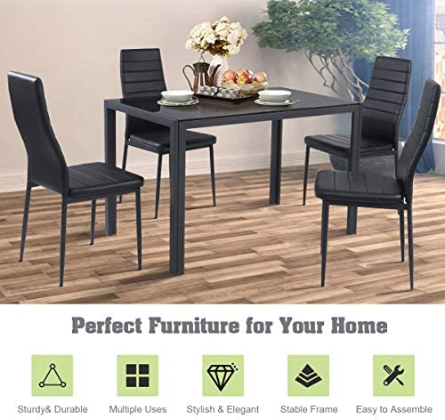 home, kitchen, furniture, kitchen, dining room furniture,  table, chair sets 12 on sale Giantex 5 Piece Kitchen Dining Table Set with in USA