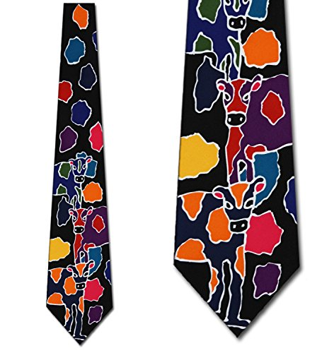 Cow Abstract tie Mens Necktie by Three Rooker