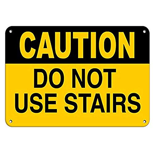 - Aubrey Hammond Safety Warning Signs Caution Do Not Use Stairs Hazard Sign Watch Your Step Signs Aluminum Metal Sign.Large Size 12 x 8 inches
