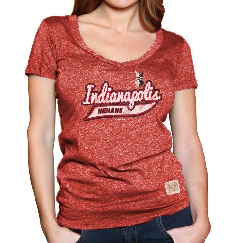 Minor League Baseball Indianapolis Indians Women's T-Shirt, X-Large, - Clothing Indian Indianapolis