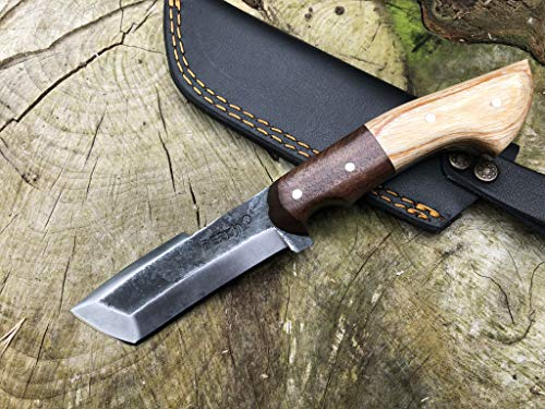 Perkin PK999 Hunting Knife with Sheath Fix Blade Knife Tanto Blade