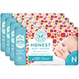 The Honest Company Baby Diapers With TrueAbsorb Technology, Them Apples, Size 0 Newborn, 128 Count
