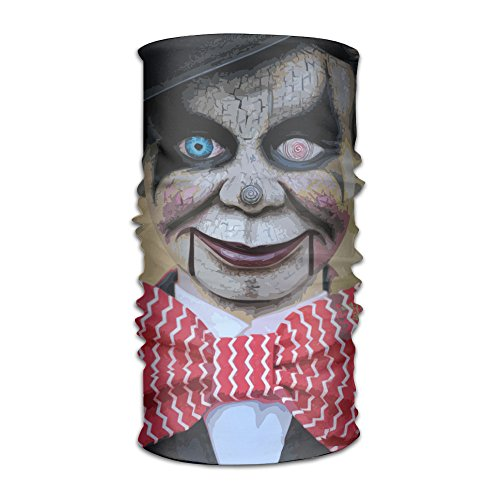 SkullMask Sinister Ventriloquist Doll Seamless Horror Temperament 3D Print Sports Scarf (Ventriloquist Doll Costumes)