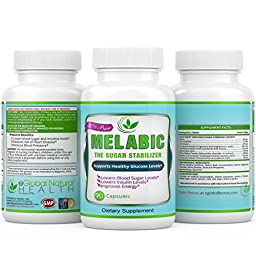 Lower Blood Sugar Naturally -Advanced in Blood Sugar Supplements with All Natural Gymnema, Bitter Melon, Fenugreek, Alpha Lipoic Acid, Banaba, Chromium and Cinnamon