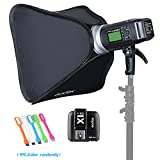 Godox AD600BM Bowens Mount 600Ws GN87 High Speed Sync Outdoor Flash Strobe Light Monolight with X1C Wireless Trigger Transmitter For Canon Camera & 80cmX80cm /32''X32''Softbox (Bowens Mount Speedring)
