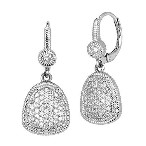 BIJOUX BOBBI Luxury Box Included Love Trillion Trillion Shaped Earrings - Silver - BB3714EXPV