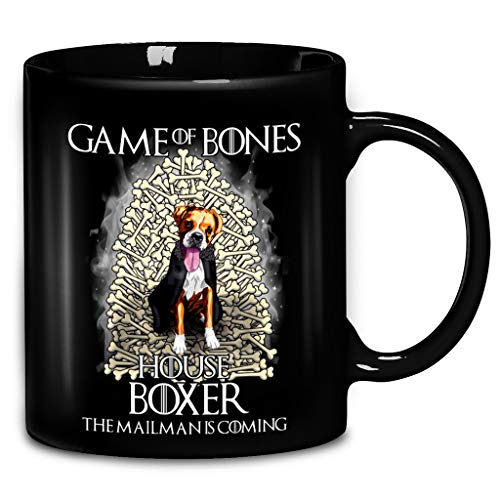 Games Of Bones House Boxer The Mailman Is Coming Coffee Mug 11oz & 15oz Ceramic Tea Cups