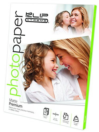 - Klip Xtreme Matte Finish Photo Paper- 8.5in x 11in - 50 Sheets -Page Pack - 8.4 Mil Thickness