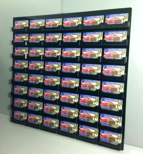 Marketing Holders 48 Pocket Black Wall Mount Business Card Display Holder New by Marketing Holders