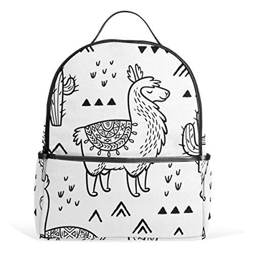 Auskid Vantage Llama Backpack School Bookbag for Girls Boys Kids