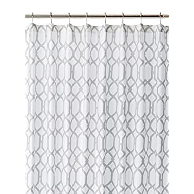 Tommy Bahama 200781 Cotton Shower Curtain, Shoretown Trellis Gray