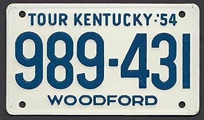 Kentucky Wheaties License Plate 1954