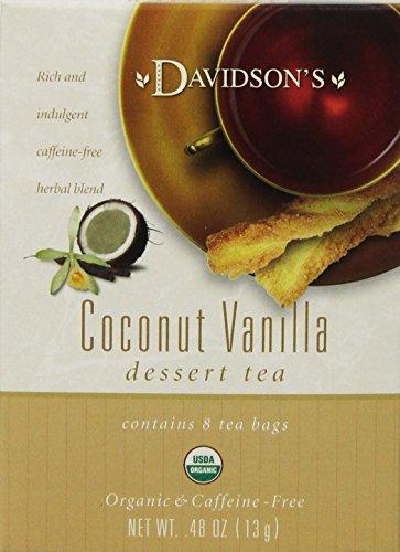 Davidson's Tea Coconut Vanilla, 8-Count Tea Bags (Pack Of 12)