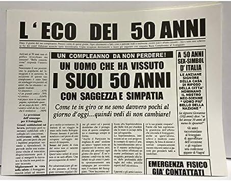 Biglietto Auguri Giornale Cm 32x49 L Eco Dei 50 Anni