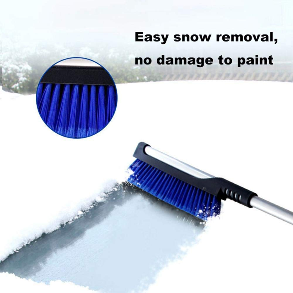 2 in 1 Dual Head Snow Brush and Ice Scraper,Snow Shovel Windshield Scraper Remover for Windshield//Window Frost Snow Water Removing ZYYIN Extendable Car Snow Brush Ice Scraper 2pcs