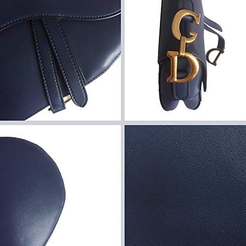 Selle Bleu Embrayage À Bandoulière Poignée Femmes Designer Rivet Sac Yoome Bandoulière Supérieure REFvHwx6q