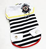 Neonr Fashion Bow Decoration Red and Black Striped Polyster-Cotton Pet Clothes for Small Middle Large Dogs.(Black)