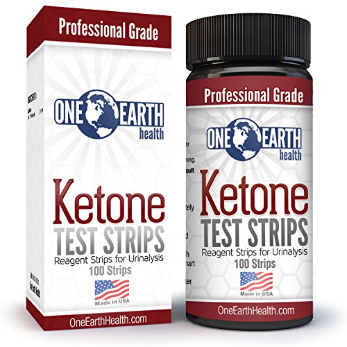 Ketone Strips (USA Made): Accurate results for Ketogenic Diet, Diabetics and Ketone measurement. Lose weight with confidence - 100 Strip