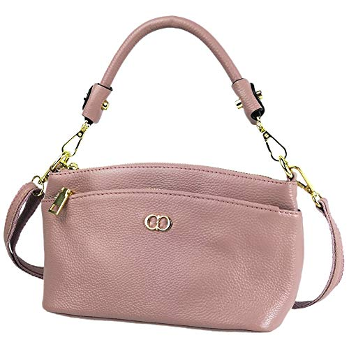 CHERRY CHICK Women's Genuine Leather Crossbody Purse Small Cowhide Skin Handbags Shoulder Bag for Lady(Cherry Blossom Pink-9001) ()