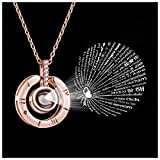 Firsteel 100 Languages Necklace I Love You Necklace Loving Memory Collarbone Jewelry for Women