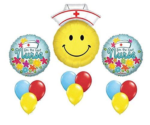 For the Best Nurse - Thank You Mylar Latex Set Appreciate Graduation by Balloon Emporium (Nurse Party Decorations)