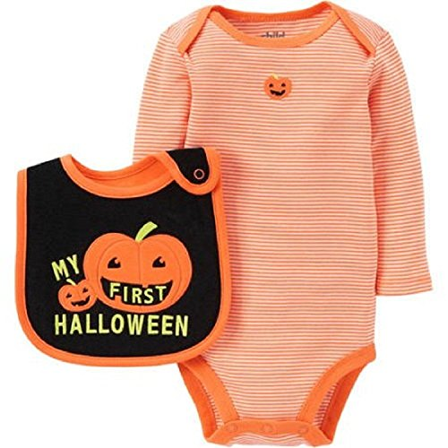 Child of Mine by Carters Baby Boys First Halloween Bodysuit And Bib Set (Blue Carter Halloween)