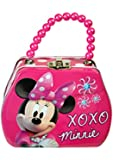 Disney Minnie Bowtique Purse Shaped Tin Box With Beaded Handle