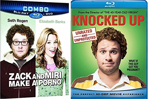 Knocked Up + Zack & Miri Make a Porno Comedy Feature Blu Ray Fun Double Feature movie Set Combo Edition Seth Rogen