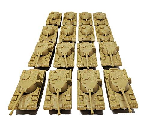 (Toy Essentials 16 Pc Desert Army Battle Tanks Play Set)