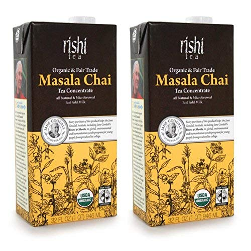 Rishi Tea Organic Concentrate Masala Chai Tea - 32 oz (Pack of 2) by Rishi