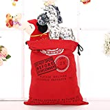 LITTLEGRASS Christmas Decorations Santa Sack