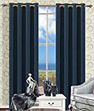 Sideli® Thermal Insulated Solid Faux Linen Blackout curtain Window Treatments Panels Grommets with Multi Size Multi Color (One Panel) (50″Wx84″H, Navy) Review