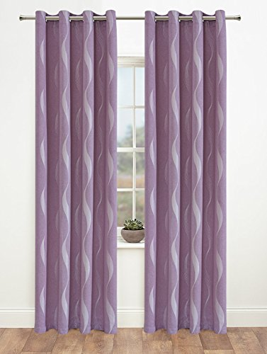Kids Curtains (Onlyyou Window Treatments Thermal Insulated Ripple Grommet Curtains One Pair (W52