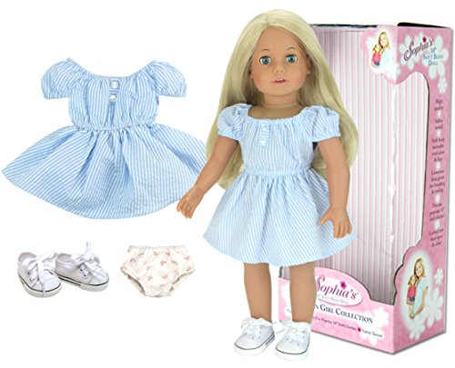 Sophia's 18 Inch Doll, 18 Inch Blonde Doll, Jointed Arms/Legs & Soft -