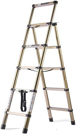 GYL XSJZ Escaleras telescópicas Escalera Telescópica Plegable, Escalera Retráctil Portátil de Aluminio de 5 Escalones, Fácil de Almacenar, para El Hogar, La Oficina Escalera Plegable: Amazon.es: Hogar
