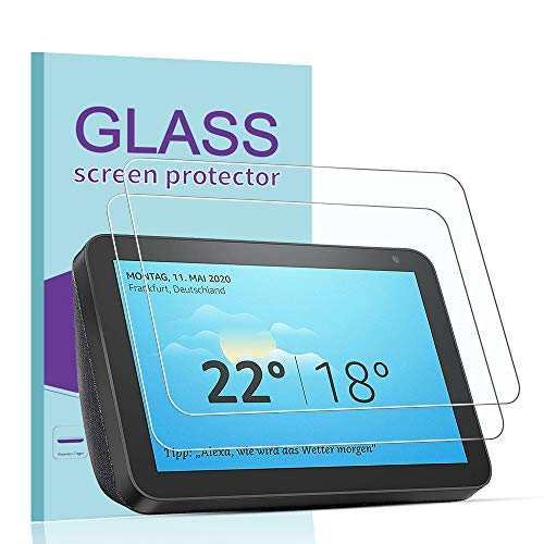 [2 Pack] Janmitta for Amazon Echo Show 8 Screen Protector, [Scratch Resistant][Anti-Fingerprint] Tempered Glass for…