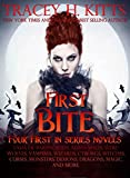 download ebook first bite (four first in series novels): tales of paranormal alpha males, werewolves, vampires, wizards, cyborgs, witches, curses, monsters, demons, dragons, magic, and more pdf epub